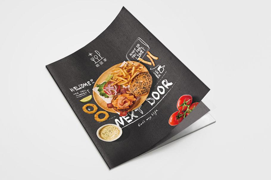 美式餐廳菜單-平面作品設計