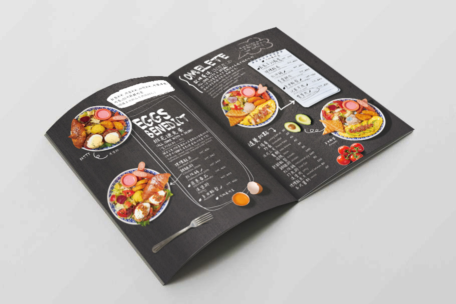 美式餐廳菜單設計-平面作品