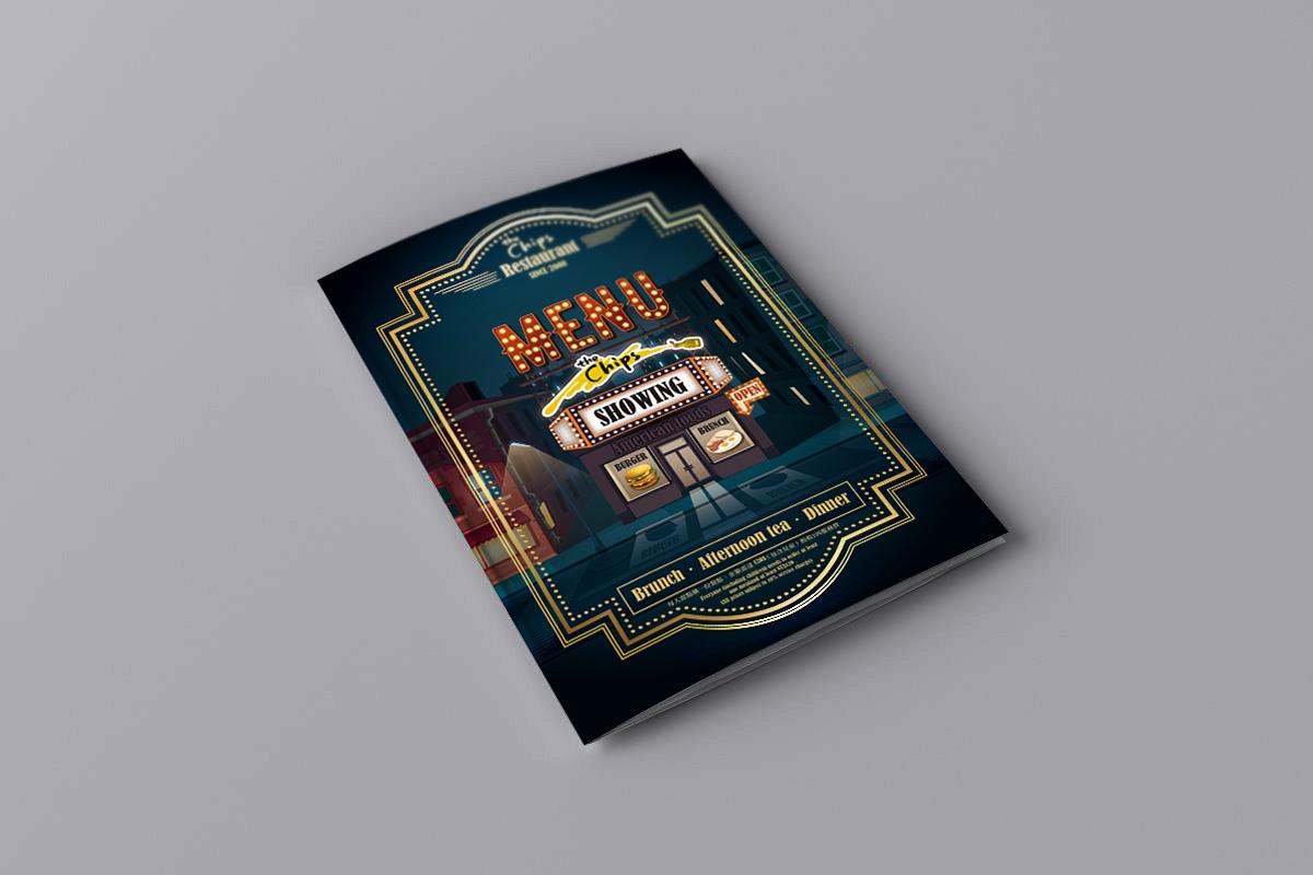 式餐廳菜單設計-平面作品