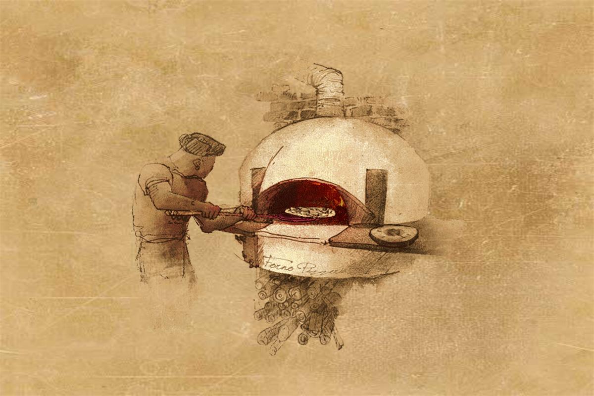 pizza插畫設計